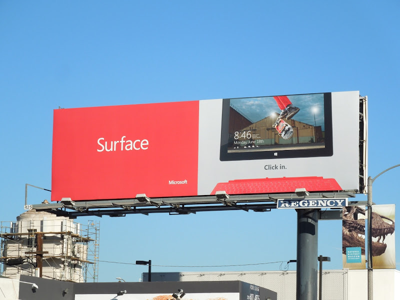 Surface skateboarder billboard