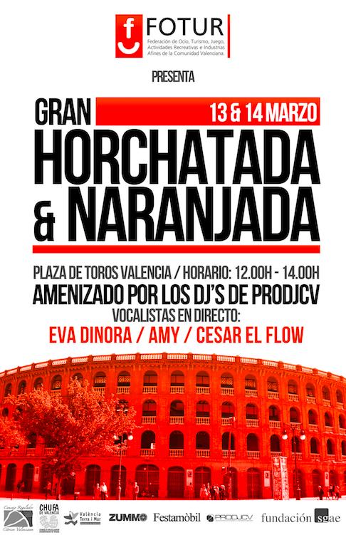 Horchata y zumo de naranja ¡gratis!