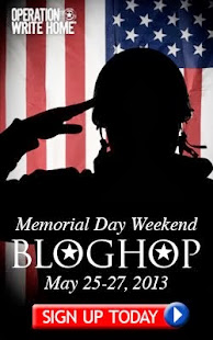 OPERATION WRITE HOME MEMORIAL DAY BLOG HOP