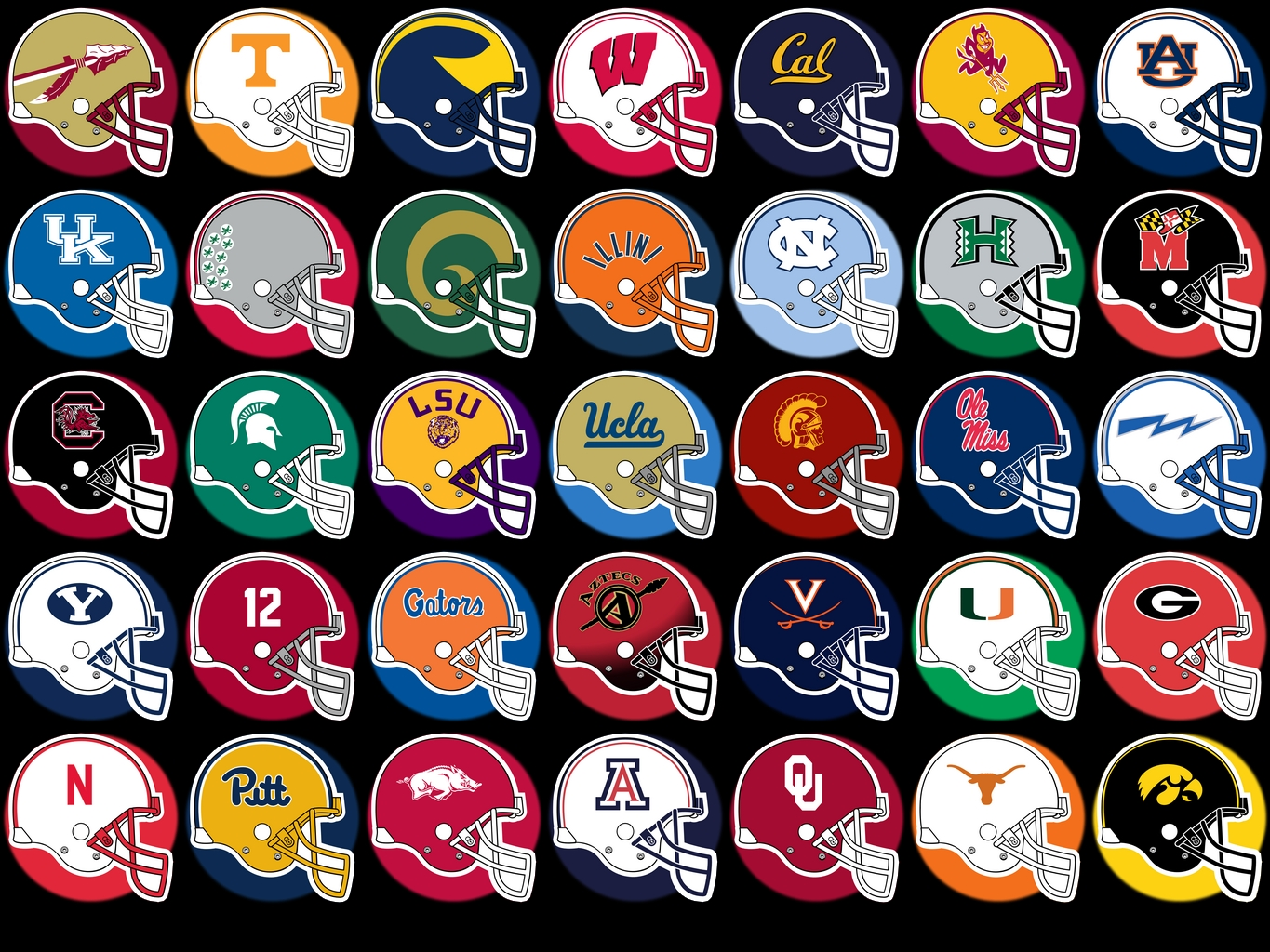 ncaa football logos college football boards
