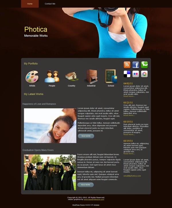 Photica - Free Wordpress Theme