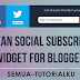 Clean Social Subscribe Widget for Blogger