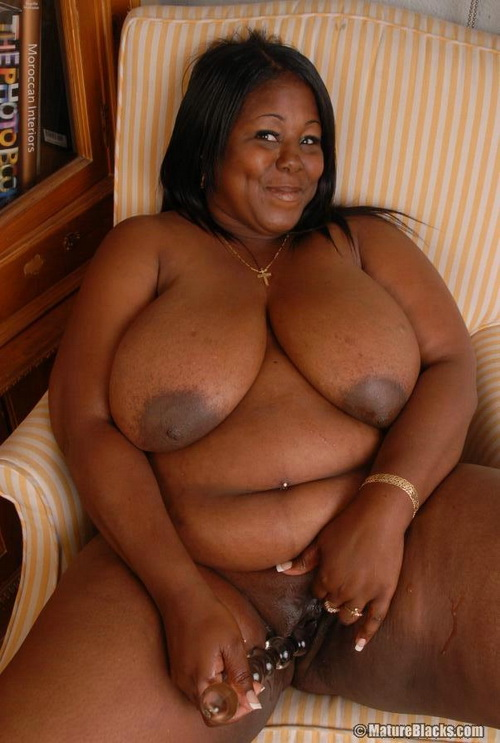 image Busty black bbw thinks of you as she fucks her juicy pussy