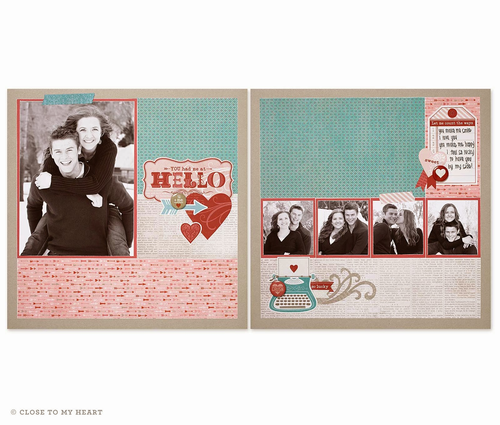 Heartstrings Scrapbook Layouts