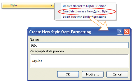 Menciptakan style baru.