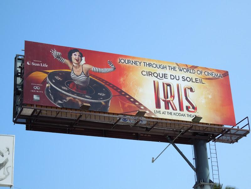 Cirque du Soleil Iris billboard