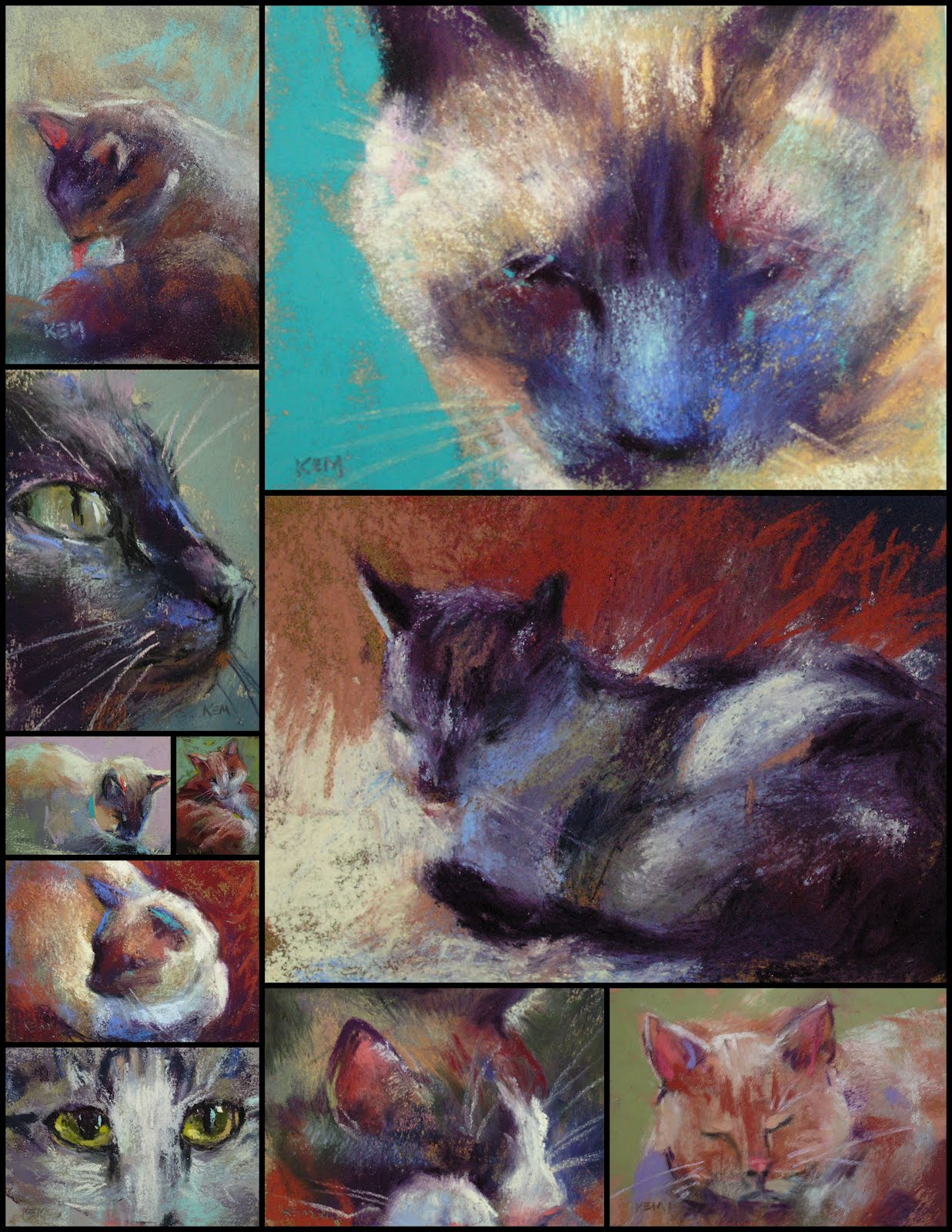 Color of cats fur - The Photo Above Shows A Collection Of My Small Cat Pastels I Used The Same Technique To Get The Fur Color As I Did For The Dog Painting