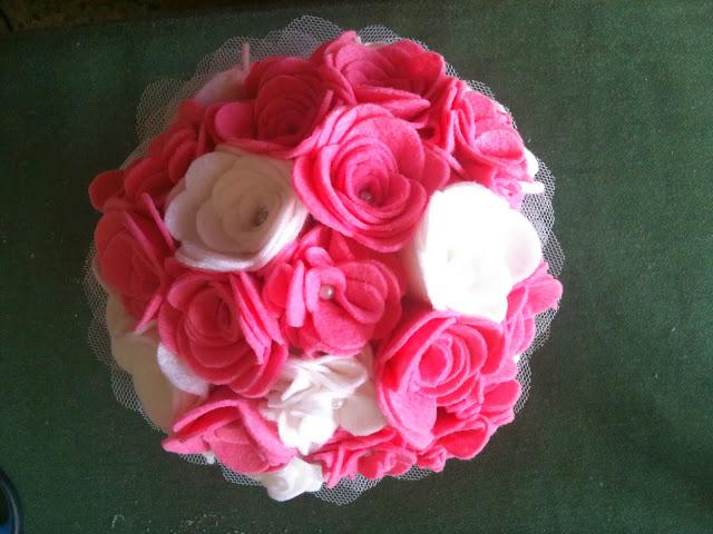 ramos de fieltro bodas y princesas blog