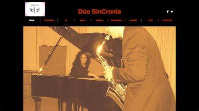 Dúo SinCronía Dúo de saxofón y piano creado en 2011 que se dedica desde su inicio a promover y divulgar la música contemporánea para estos instrumentos (solos, en dúo, con electrónica…). A pesar de su corta existencia, han estrenando obras de Antonio J. Flores, Juan de Dios García Aguilera, Eneko Vadillo...