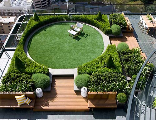 Dream house design and architecture modern roftop garden for Rooftop garden designs
