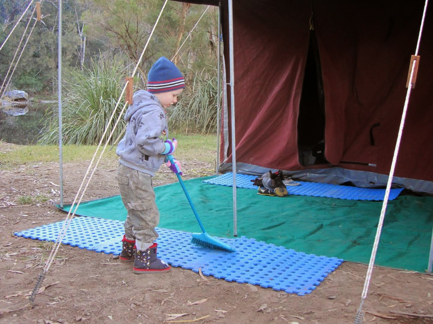 children and camping independence and learning