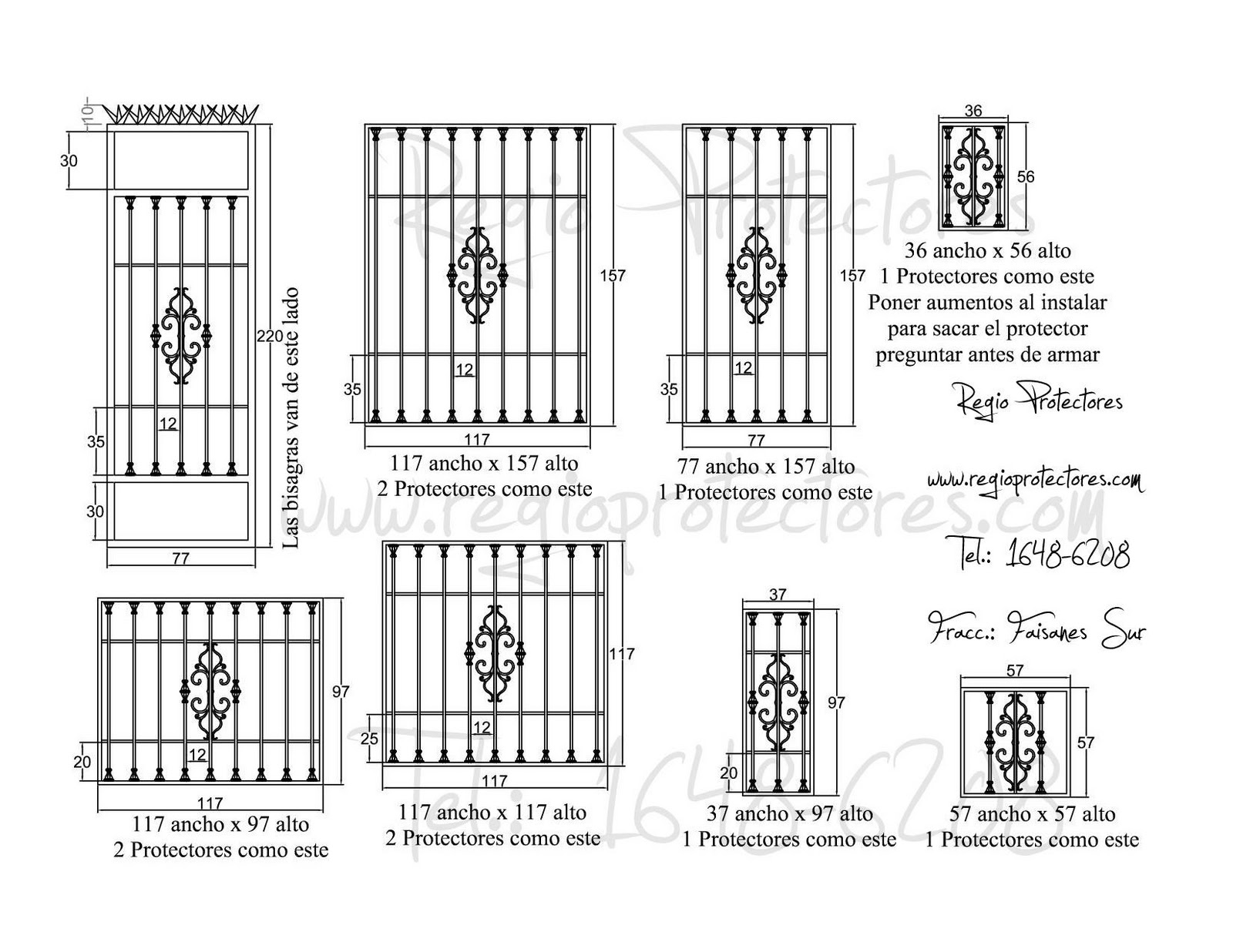 Protectores para ventanas y puertas, Fracc. Faisanes Sur, Foto Montaje