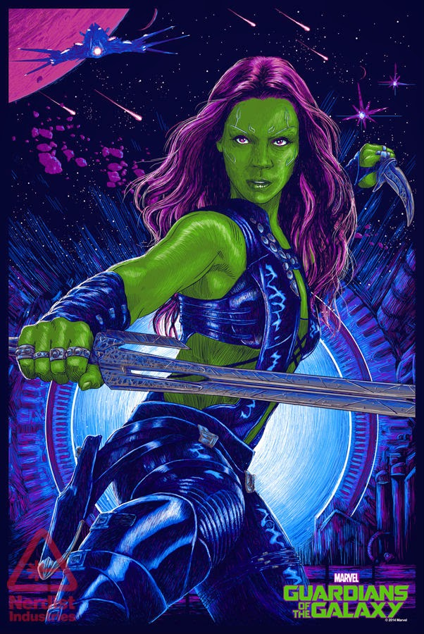 San Diego Comic-Con 2014 Exclusive Gamora Guardians of the Galaxy Screen Print by Vance Kelly