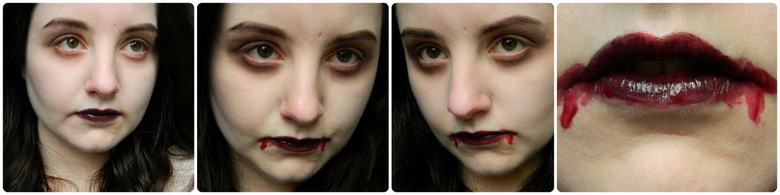 Easy Halloween Makeup: just add fangs!