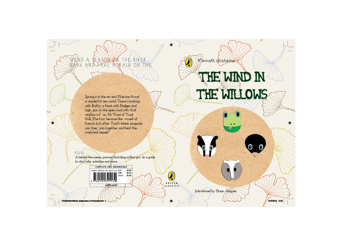 Penguin Book Cover Competition : Georgia gabrielle design wind in the willows puffin