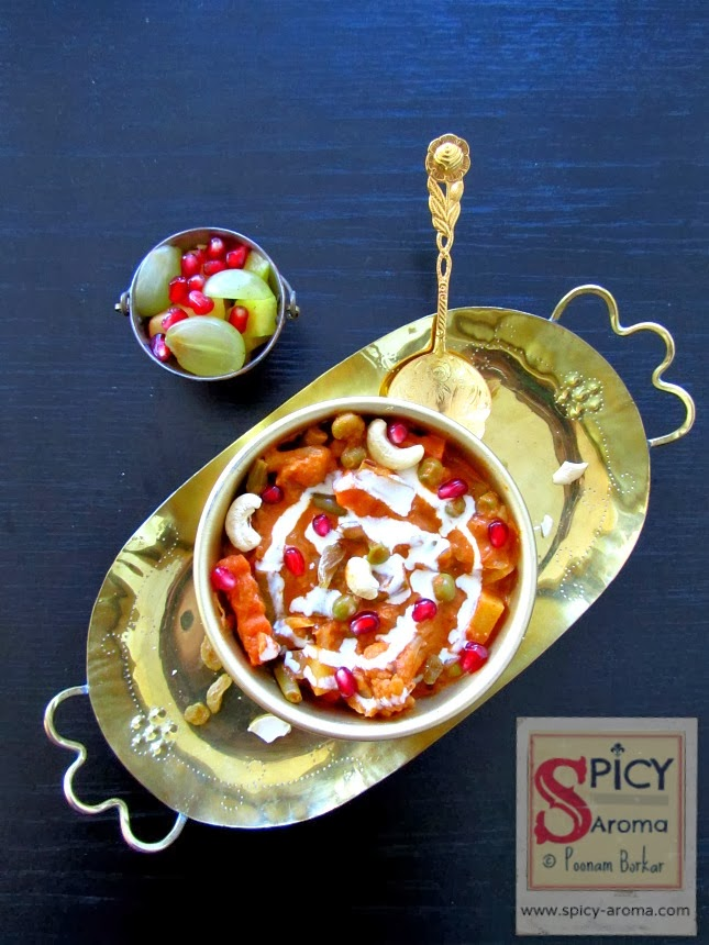 Navratan korma recipe with step wise pictures spicy aroma navratan korma recipe with step wise pictures forumfinder Gallery