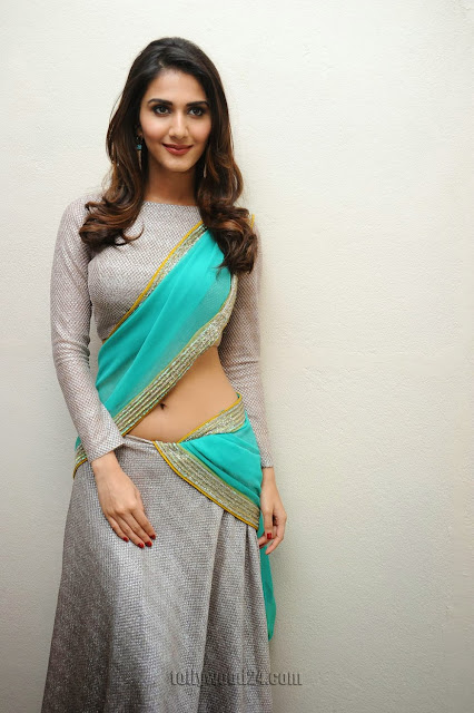 Vaani Kapoor in Stunning Half Saree and Full Covered Tight Blouse Must See Beauty