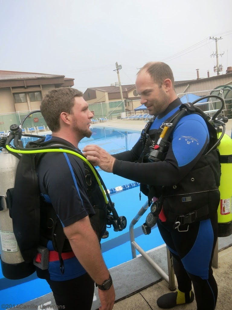 PADI IDC, confined water, buddy check