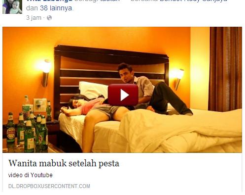 Hati-Hati: Video 'Cewek Mabuk' Vulgar di Facebook itu VIRUS