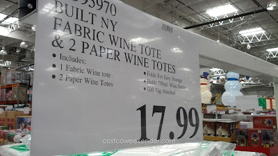 Deal for a set of 3 Built New York Origami Wine Totes at Costco