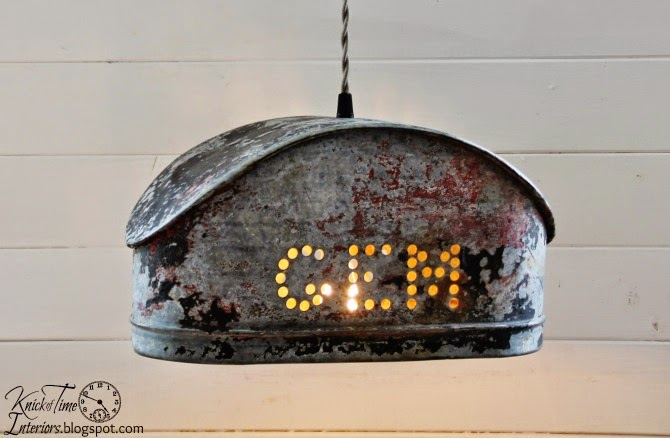 GEM Cistern Water Pump Hanging Light by http://knickoftimeinteriors.blogspot.com/