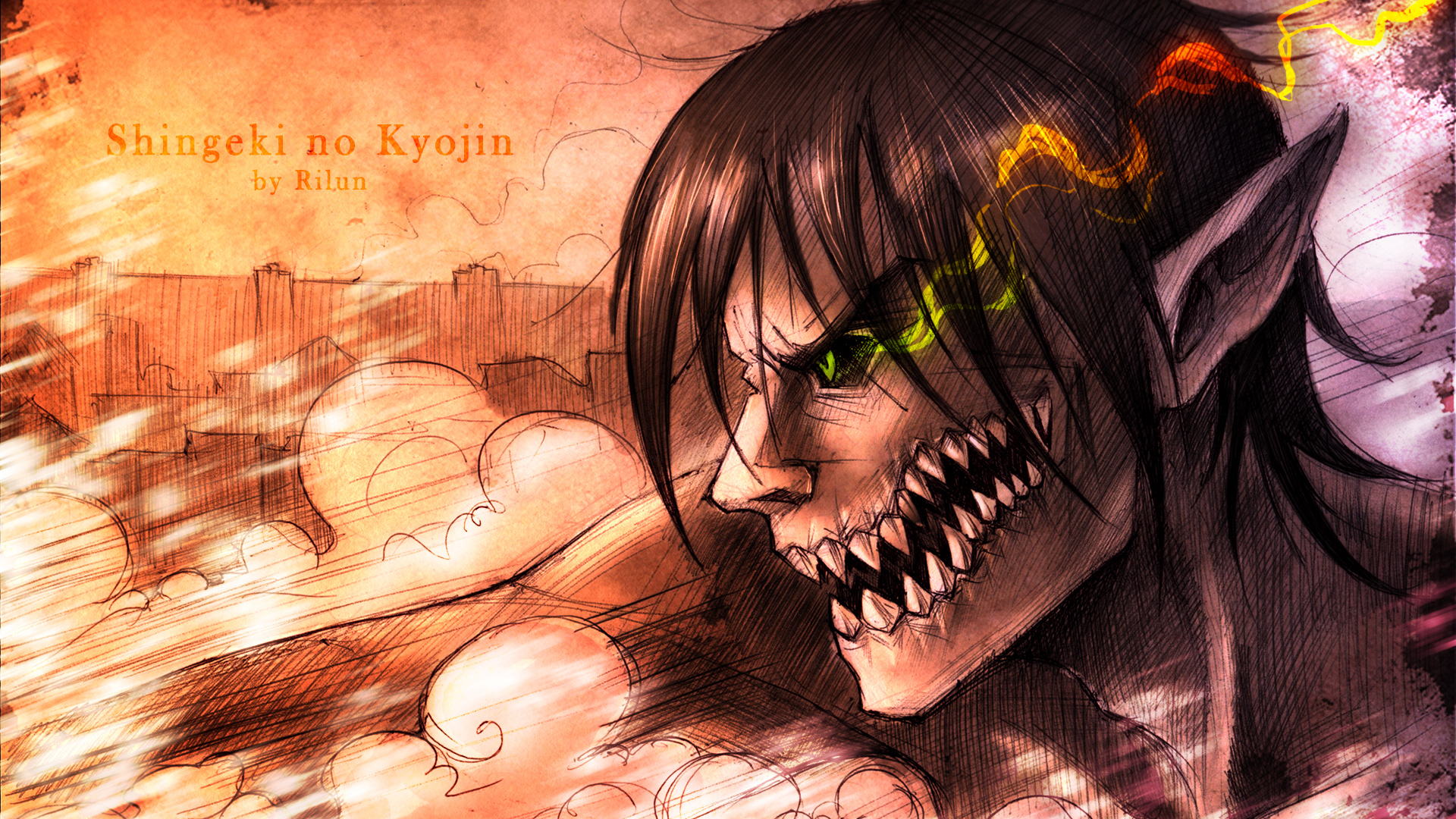 attack on titan eren wallpaper 1080p wwwpixsharkcom
