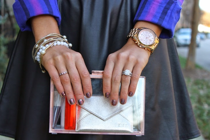 Clear see through clutch