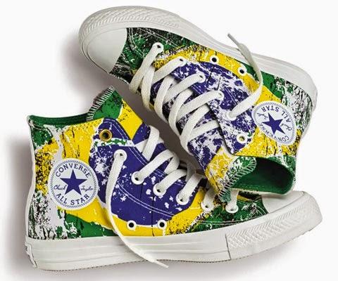 Converse estampa bandeira brasileira Copa do Mundo Brasil