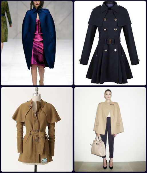 style of your own blog, trends, capes, Burberry cape, coat cape