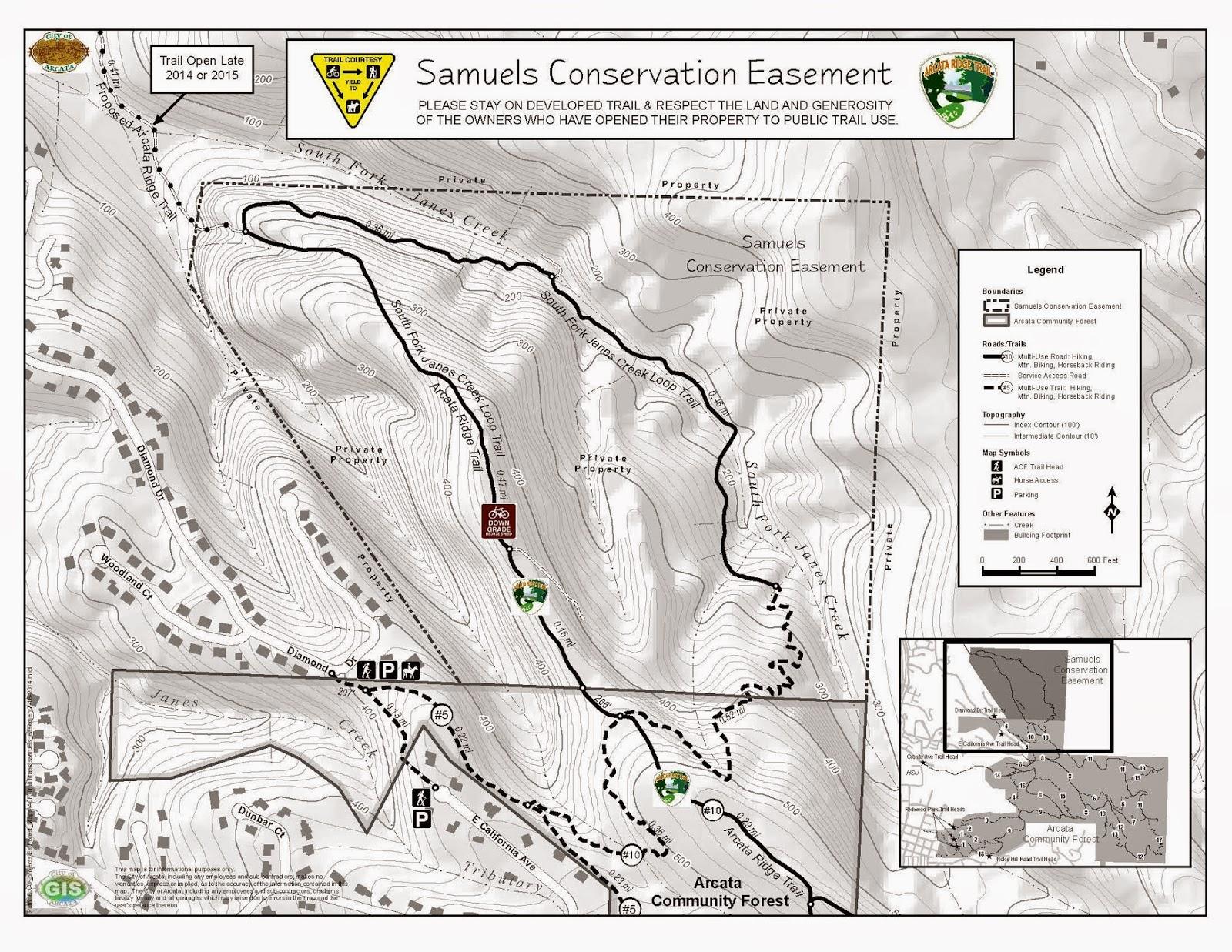 Northcoast Bike Rides MTBArcata Community Forest Update