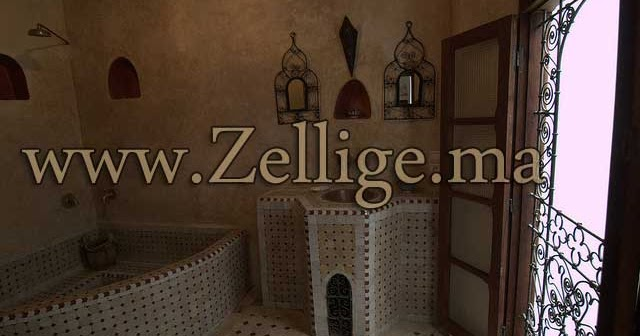 2013 Formidable Hammam en zellige - hammam Marocain