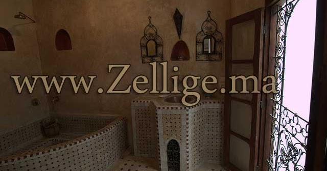 Zellige Marocain Salle De Bain : Salle du bain hammam marocain moderne et traditionnel 2013