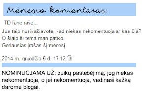 GRUODŽIO KOMENTARAS