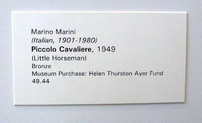 Marino Marini - Piccolo Cavaliere at Portland Art Museum