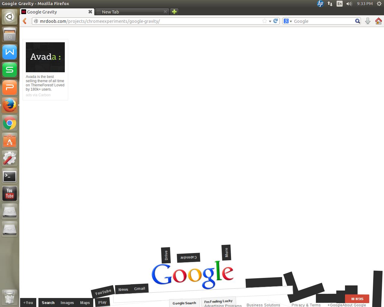 Google gravity theme - 12 Google Gravity Trick