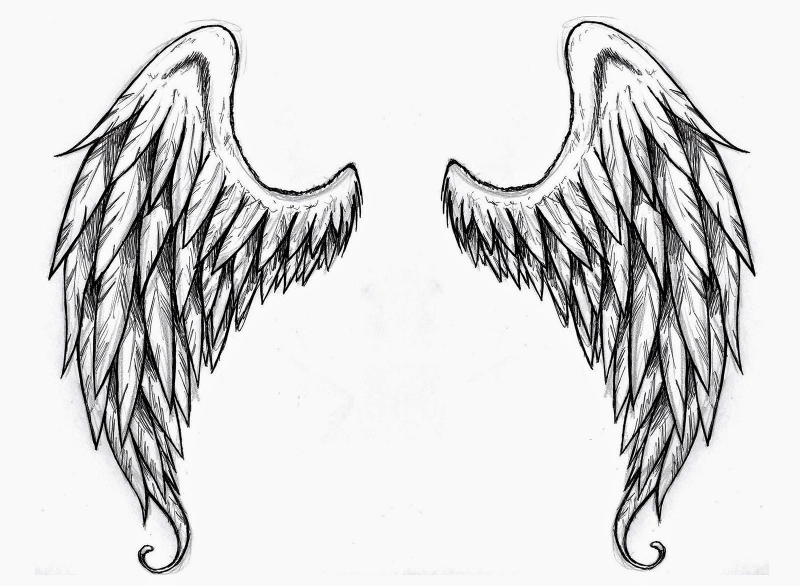 Demon wings tattoo stencil