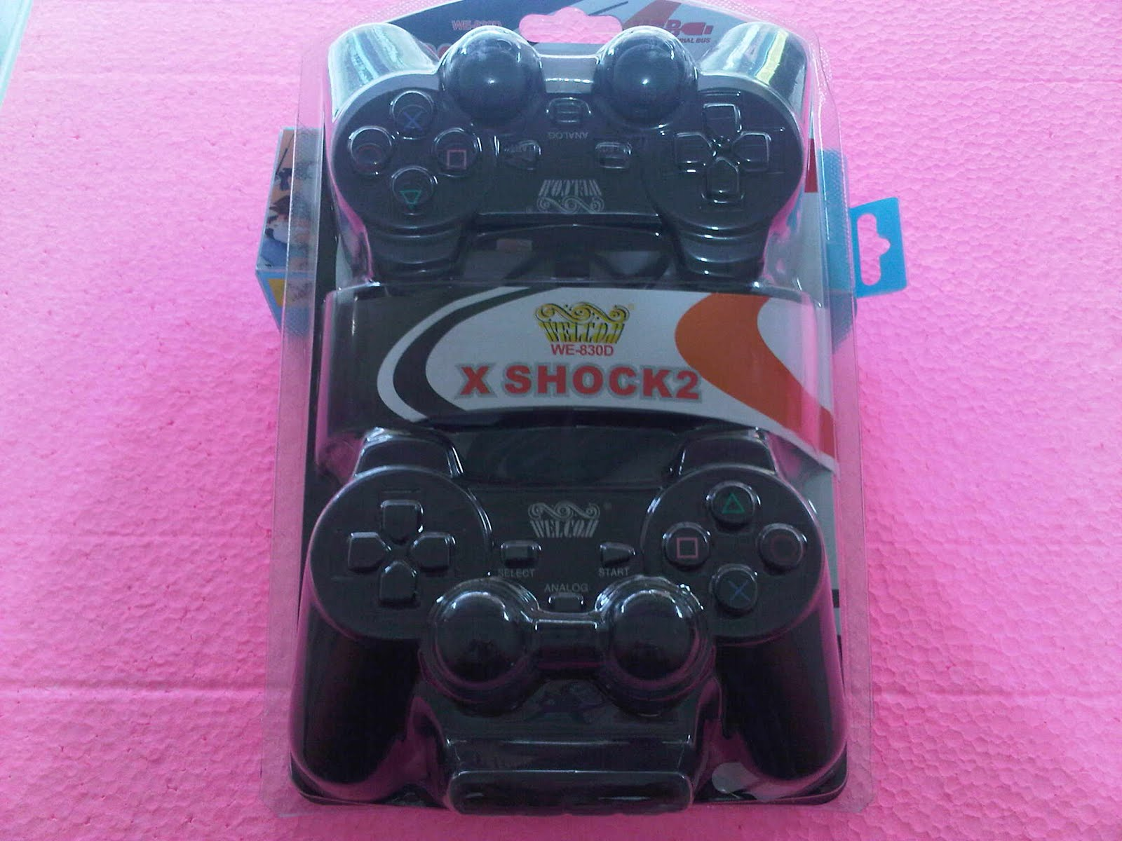 GAMEPAD DOUBLE HITAM WEL