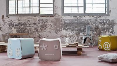 Formabilio startup di design e Pi'gio un'affasciante linea di pouf e cuscini di design