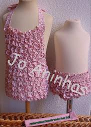 FATO BANHO e TANGA (Flores Rosa)