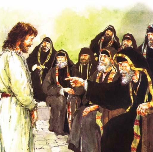 Resultado de imagen de imagenes de jesus en el juzgado con los sacerdotes