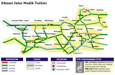 Peta Jalur Mudik 2011