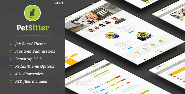 Free Download PetSitter V.1.5.5 Job Board Responsive WordPress Theme