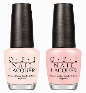 OPI NUDE AND PALE PINK NAIL POLISHES