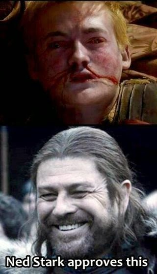 #GameOfThrones Its Good To See Smile On Your Face Ned Meme