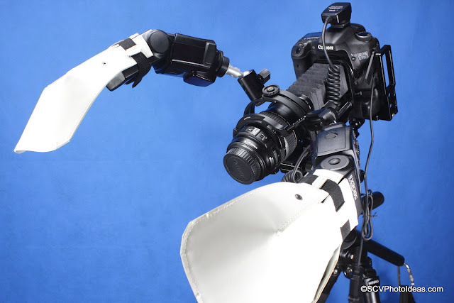SCV Transportable Macro Rig w/ macro flash bracket fully equipped w/ 2 x speedlites + diffusers