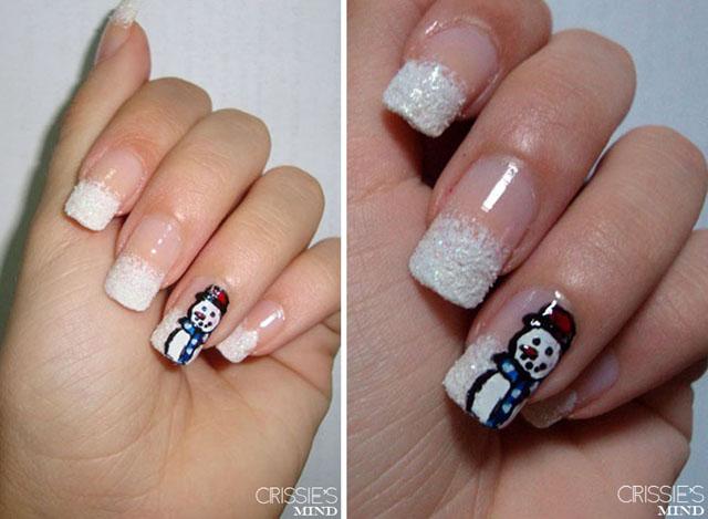 Snowman Nails