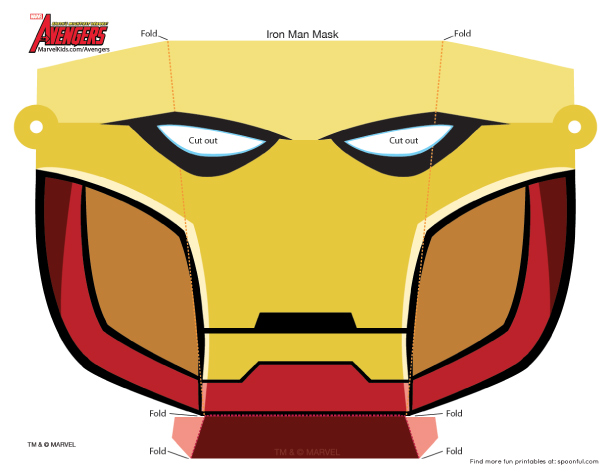 photo regarding Iron Man Mask Printable titled Type and Step: Iron Gentleman Printable Paper Mask - Straightforward IM3