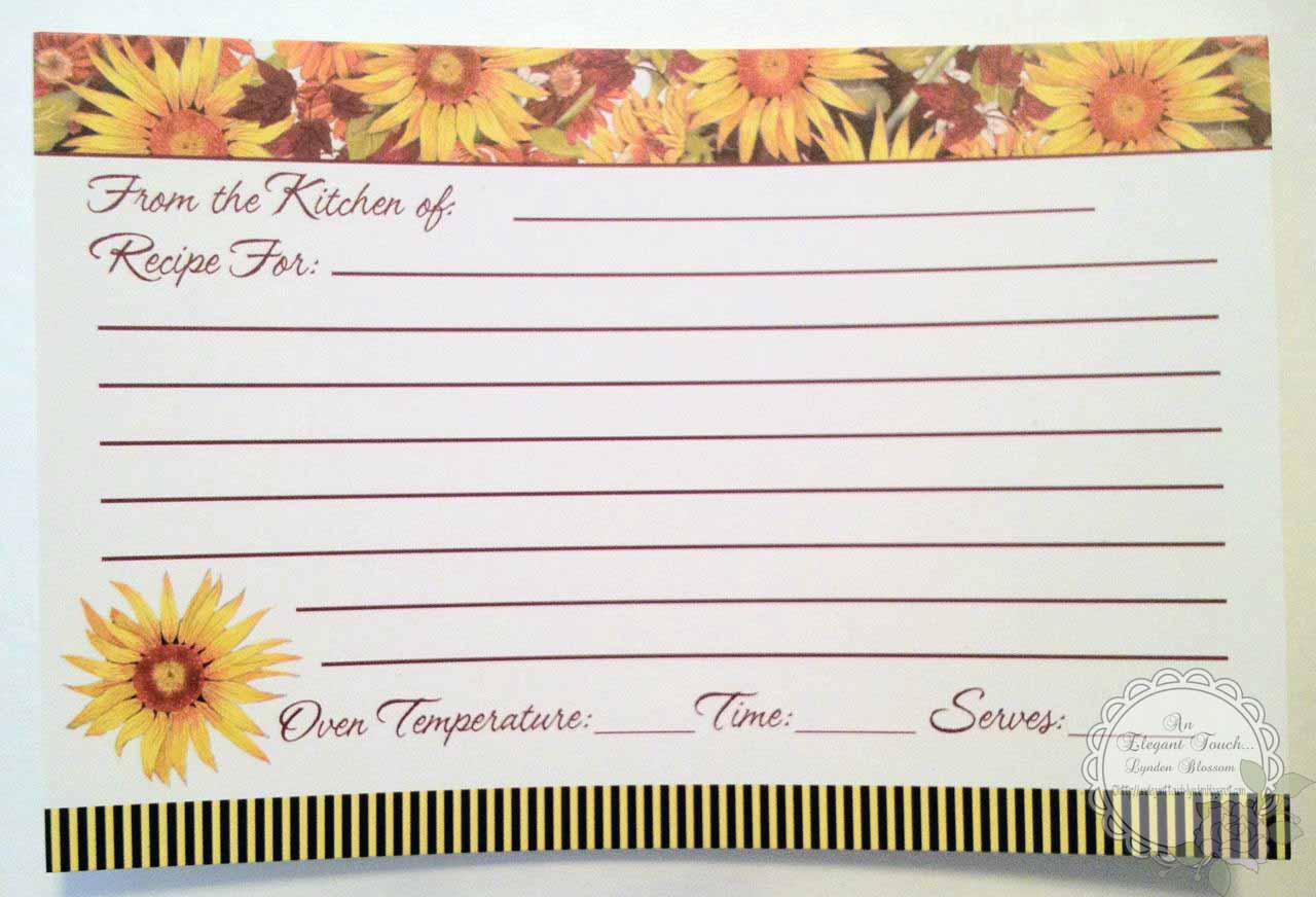 Recipe Template 8.5 X 11 I used an 8.5 x 11 goldenrod