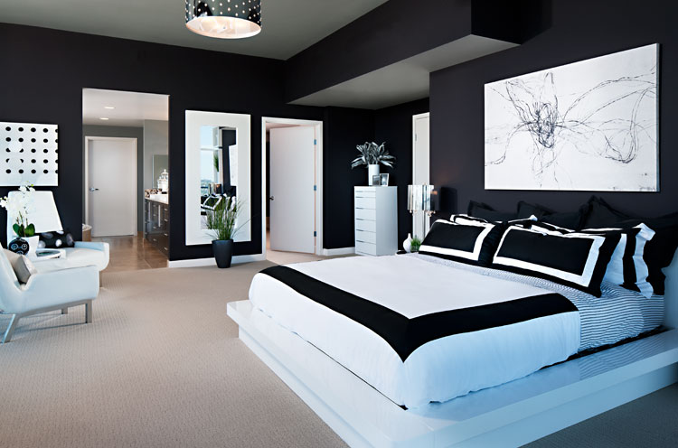 Black And White Decorating Ideas For Bedrooms