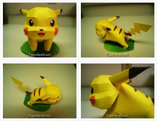 Pokemon Pikachu Papercraft Model Free